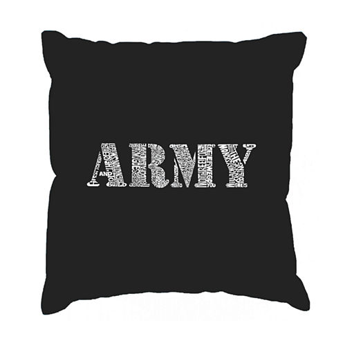 Los Angeles Pop Art LYRICS TO THE ARMY SONG ThrowPillow Cover