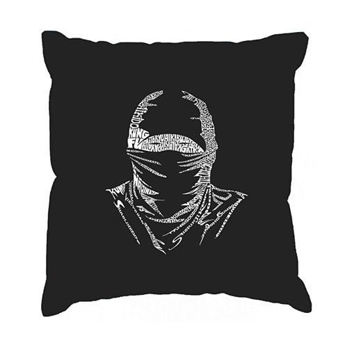 Los Angeles Pop Art NINJA Throw Pillow Cover