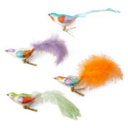 MarthaHoliday™ Set of 4 Bird Clip Ornaments