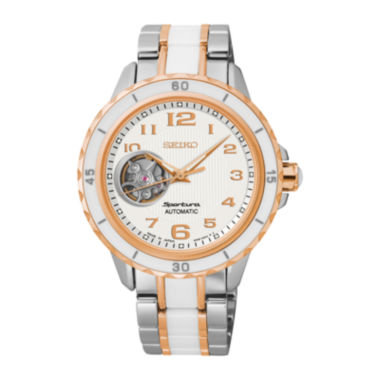 jcpenney.com | Seiko® Sportura Womens Two-Tone Stainless Steel Bracelet Watch SSA880