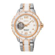 Seiko® Sportura Womens Two-Tone Stainless Steel Bracelet Watch SSA880