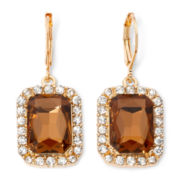 Monet® Gold-Tone Topaz-Colored Drop Earrings