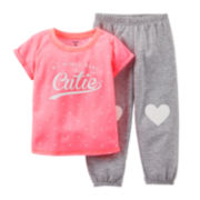 Carter's® Microfleece Heart Pajama Set - Girls 2t-5t
