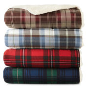 JCPenney Home™ Cozy Spun Plaid Throw