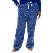 Liz Claiborne® Flannel Sleep Pants - Plus