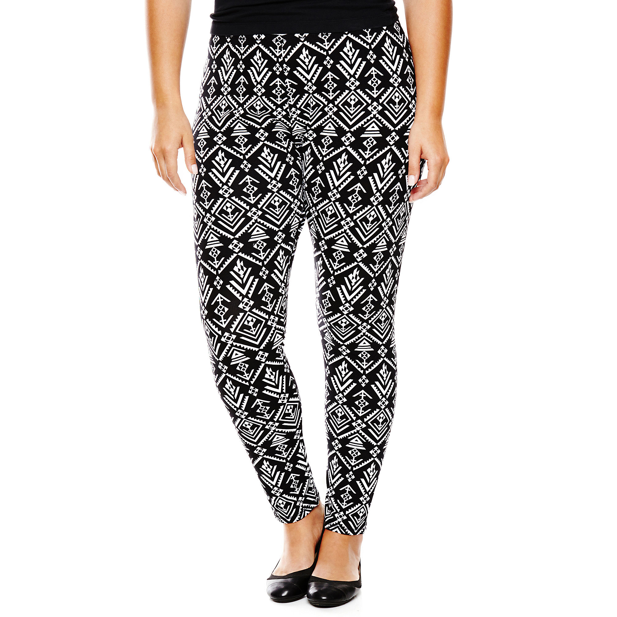 Mixit™ Aztec Print Knit Leggings - Plus