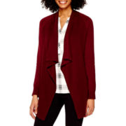 a.n.a® Long-Sleeve Flyaway Cardigan with Pockets - Tall