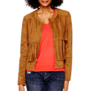 a.n.a® Fringe Jacket - Tall