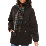 Miss Gallery® Lined Jacket With Scarf