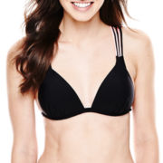 Arizona Strappy Push-Up Halter Swim Top - Juniors
