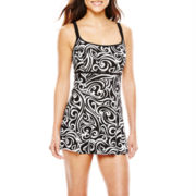 Robby Len by Longitude® Princess Seam One-Piece Swimdress