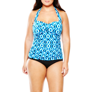 jcpenney.com | a.n.a® Twist Bandeaukini Swim Top or Solid Hipster Bottoms - Plus