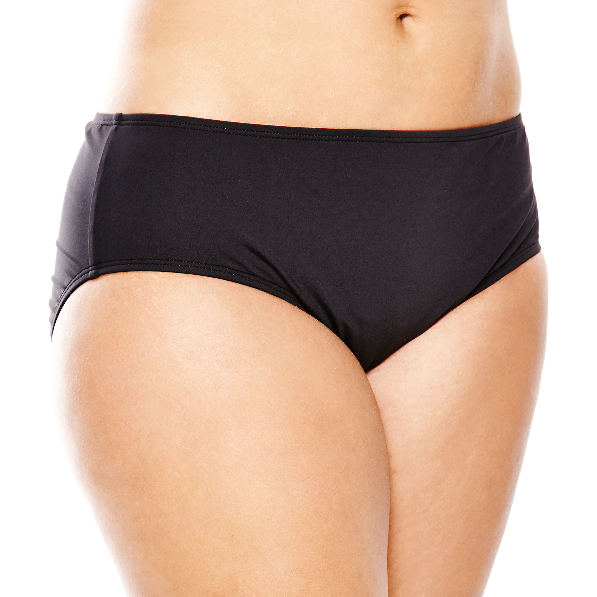 a.n.a Solid Hipster Swim Bottoms - Plus plus size,  plus size fashion plus size appare