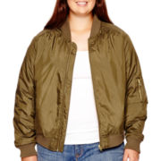 Arizona Satin Flight Jacket - Plus