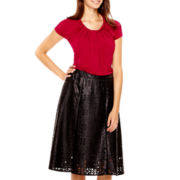 Worthington® Braided Neck Top or Faux-Leather Skirt