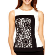 Worthington® Sleeveless Lace Peplum Top