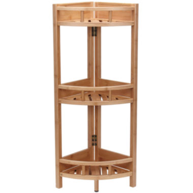 jcpenney.com | Household Essentials® Bamboo 3-Shelf Corner Shelf