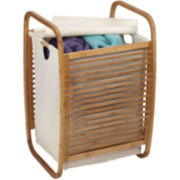 Household Essentials® Bamboo Slatted Hamper