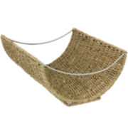 Household Essentials® Scoop Seagrass Wicker Magazine Rack