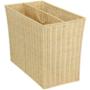 Household Essentials® Rattan Wicker Magazine Rack