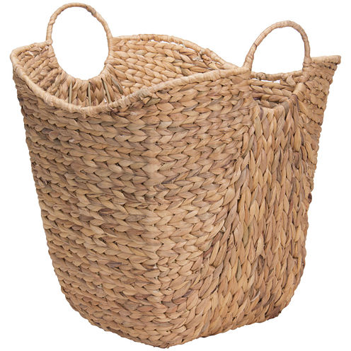 Household Essentials® Tall Water Hyacinth Wicker Basket