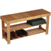 Household Essentials® 2-Shelf Bamboo Storage Bench