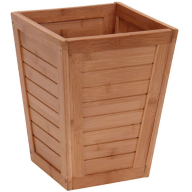 jcpenney.com | Household Essentials® Bamboo Slatted Trash Can