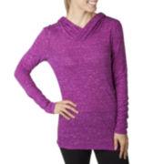 Jockey® Long-Sleeve Slub Jersey Hoodie Pullover