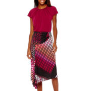 Worthington® Braided Neck Top or Asymmetrical Skirt