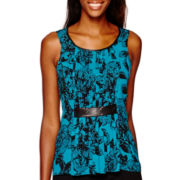 Worthington® Sleeveless Pleat Front Blouse