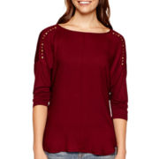 a.n.a® 3/4-Sleeve Embellished Top