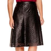 Worthington® Faux-Leather Skirt - Plus