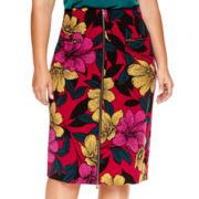 Worthington® High-Waist Zipper-Front Skirt - Plus