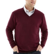 Claiborne® V-Neck Sweater-Big & Tall