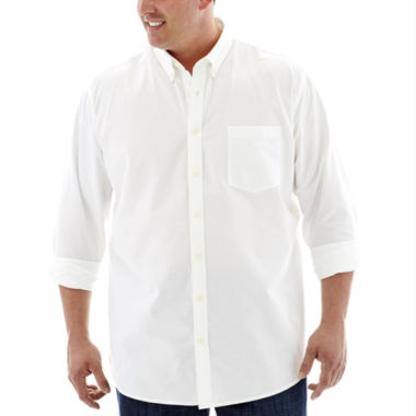 jcpenney.com | The Foundry Supply Co.™ Easy-Care Oxford Shirt - Big & Tall