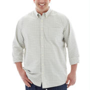 The Foundry Supply Co.™ Easy-Care Mini-Check Oxford - Big & Tall