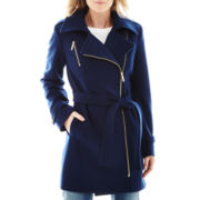 Worthington® Asymmetrical Zip-Front Wool-Blend Coat