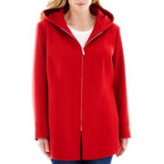 Avanti Hooded Wool-Blend Coat - Plus