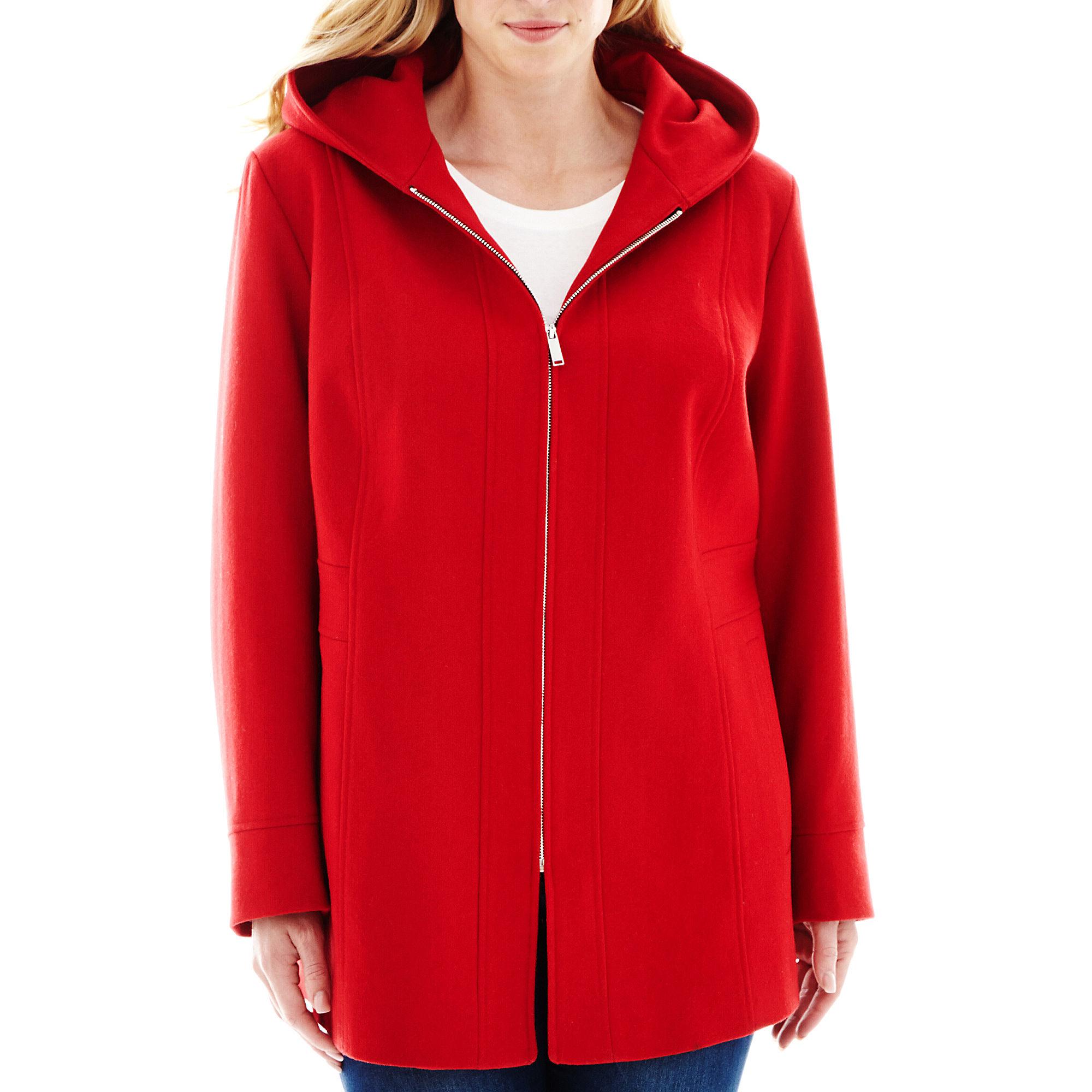 Avanti Hooded Wool-Blend Coat - Plus