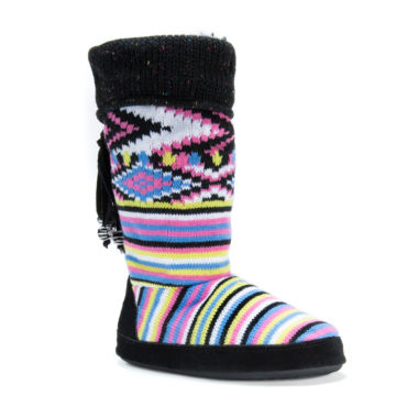 jcpenney.com | Muk Luks Acrylic Bootie Slippers