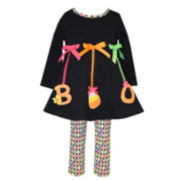 Bonnie Baby 2pc Black Boo Set NB-24M