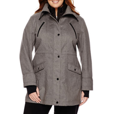 jcpenney.com | Liz Claiborne® Snap-Collar Softshell Jacket-Plus