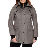 Liz Claiborne® Snap-Collar Softshell Jacket