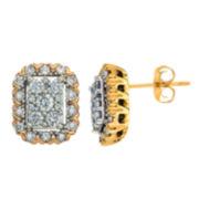 Diamond Blossom 1 CT. T.W. Round White Diamond 14K Gold Stud Earrings