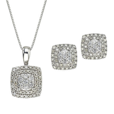 jcpenney.com | Diamond Blossom Womens 2-pc. White Diamond 10K Gold Jewelry Set