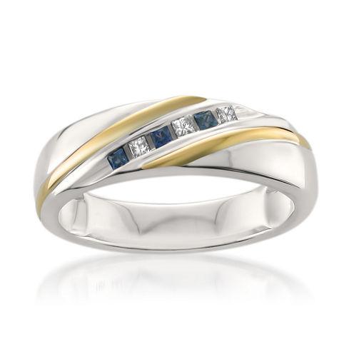 Mens 1/5 CT. T.W. White Diamond 14K Gold Wedding Band