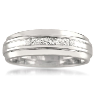 jcpenney.com | Mens 1/4 CT. T.W. White Diamond 14K Gold Wedding Band