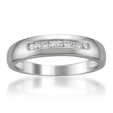 jcpenney.com | Mens 1/4 CT. T.W. White Diamond Platinum Wedding Band