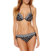 a.n.a® Polka-Dot Push-Up Halter Swim Top or Polka-Dot Keyhole Hipster Bottoms