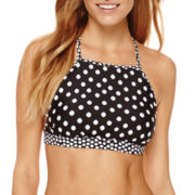 a.n.a® Polka-Dot High-Neck Swim Top